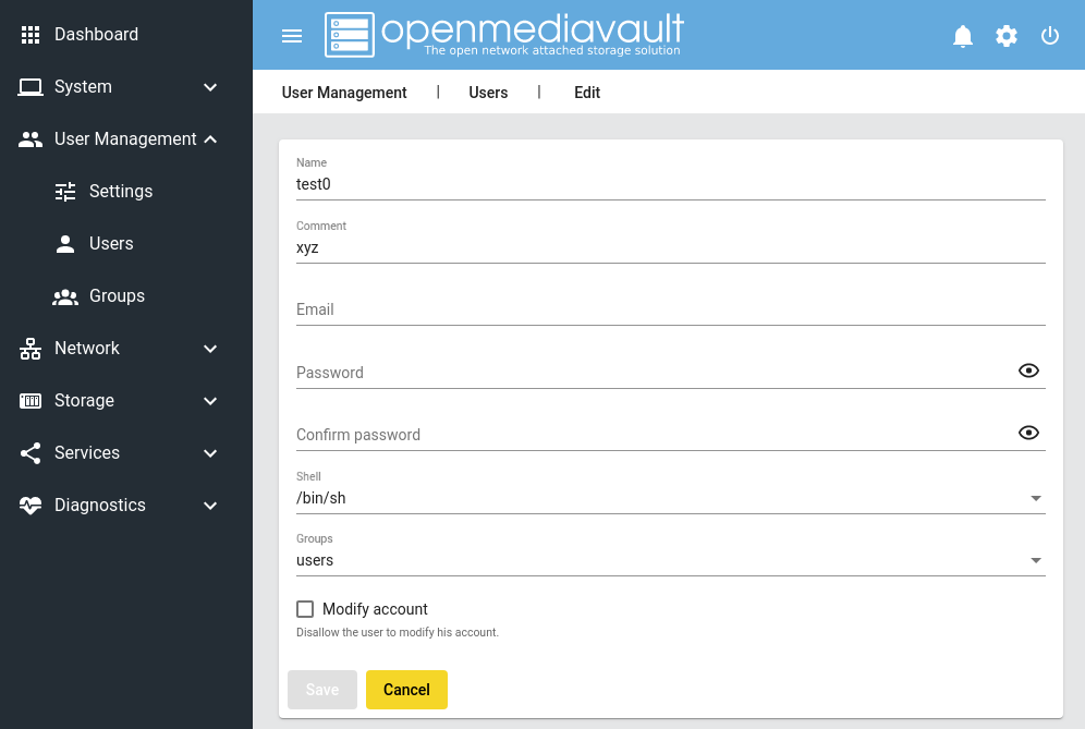 openmediavault - The open network attached storage solution